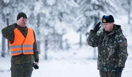 Chief of the Finnish Defence Forces inspected the Army Combined Fires Exercise